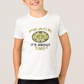 PEACE SYMBOL CLOCK Ringer T shirt (White/Black)