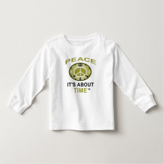 PEACE SYMBOL CLOCK Toddler Long Sleeve (White) Toddler T-shirt