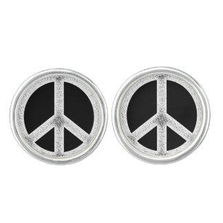 Peace Symbol Cufflinks