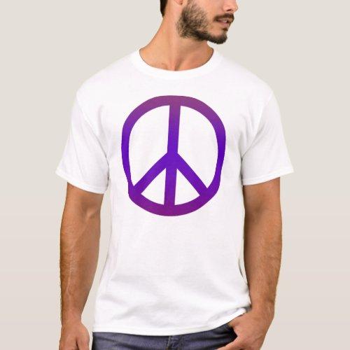 Peace Symbol Dark Purple T_Shirt