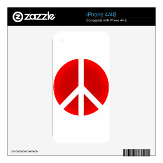 Peace_Symbol Decals For The iPhone 4