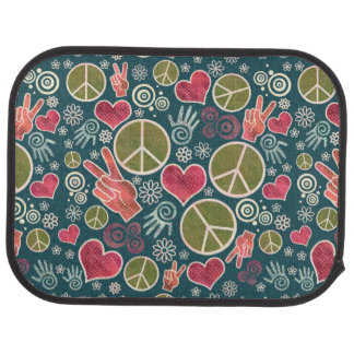 Peace Symbol Design Pattern Car Mat