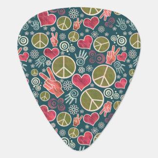 Peace Symbol Design Pattern Guitar Pick