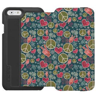 Peace Symbol Design Pattern iPhone 6/6s Wallet Case