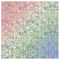 Peace Symbol Design Pattern Rainbow Fabric