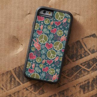 Peace Symbol Design Pattern Tough Xtreme iPhone 6 Case
