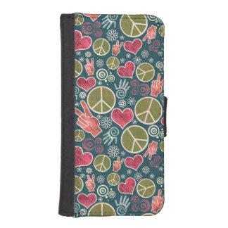 Peace Symbol Design Pattern Wallet Phone Case For iPhone SE/5/5s