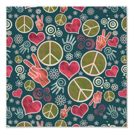 Peace Symbol Design Poster