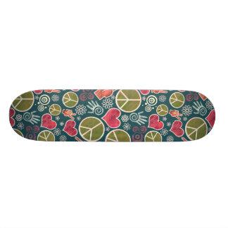 Peace Symbol Design Skateboard Deck