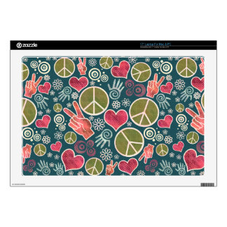 Peace Symbol Design Skins For Laptops