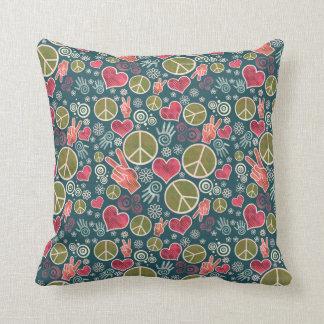 Peace Symbol Design Throw Pillow