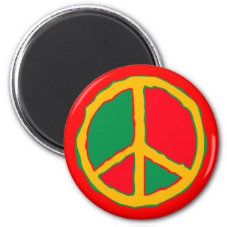 Peace Symbol Designed In Bold Stimulating Colors Magnet