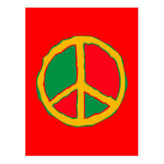 Peace Symbol Designed In Bold Stimulating Colors Postcard