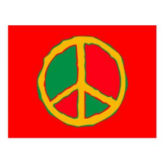 Peace Symbol Designed In Bold Stimulating Colors Postcard