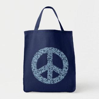 Peace Symbol -dist-blu Tote Bag