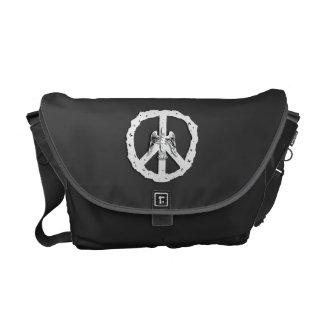 Peace Symbol & Dove Rickshaw Messenger Bag