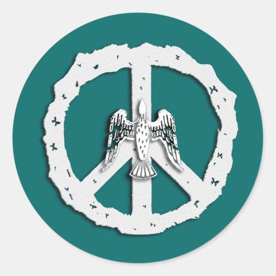 Peace Symbol & Dove Stickers