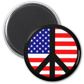 Peace Symbol Flag Fridge Magnet