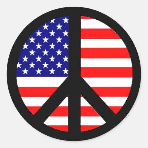 Peace Symbol Flag Stickers
