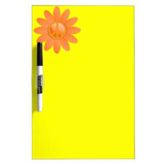 Peace Symbol Flower - Cantelope Orange Dry-Erase Board