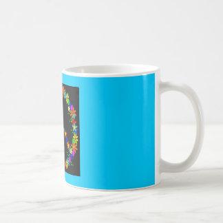 Peace symbol flower power coffee mug