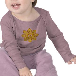 Peace Symbol Flower - Yellow Tee Shirt