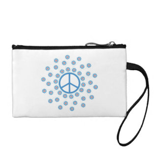 Peace Symbol Flowers Coin Wallet