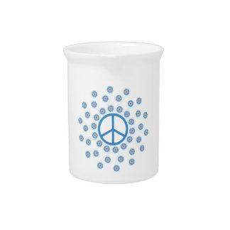 Peace Symbol Flowers Pitchers
