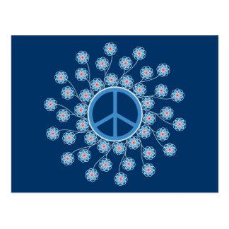 Peace Symbol Flowers Postcard
