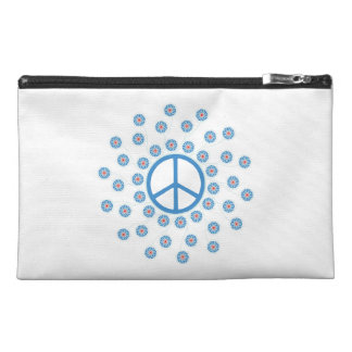 Peace Symbol Flowers Travel Accessory Bag
