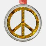 PEACE symbol - GOLD Ornament