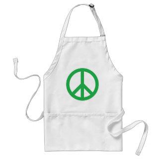 Peace Symbol - Green Adult Apron