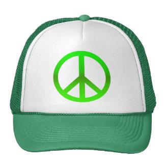 Peace Symbol Green Hat