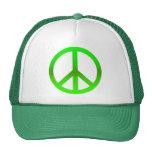 Peace Symbol Green Trucker Hat