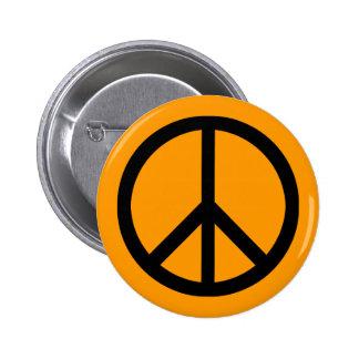 Peace symbol (heavy) button 2 inch round button
