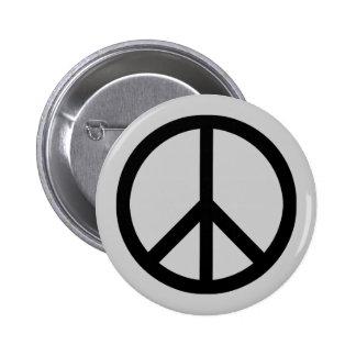 Peace symbol (heavy) button