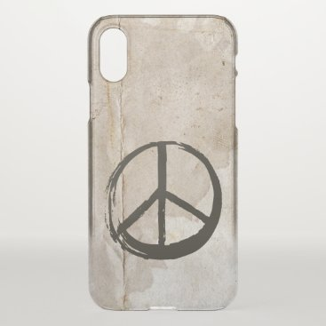 Peace Symbol Hippie Love 1960s Sign Mud Soiled iPhone X Case