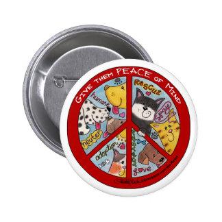 Peace Symbol-Humane Button