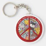 Peace Symbol-Humane Keychain