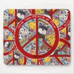 Peace Symbol-Humane Mouse Pad