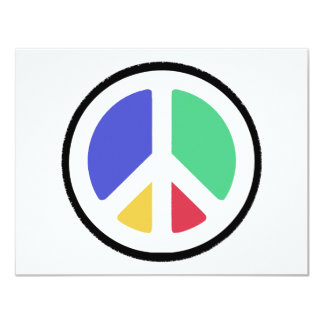 Peace Symbol in colors! Card