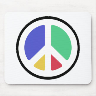Peace Symbol in colors! Mouse Pad