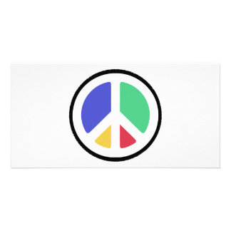 Peace Symbol in colors! Photo Card