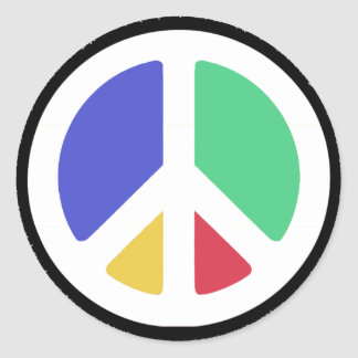 Peace Symbol in colors! Round Stickers