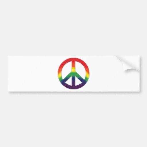 Peace symbol in Rainbow colors Bumper Stickers