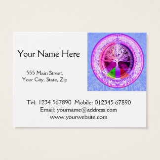 Peace Symbol in Rainbow Colors Business Card