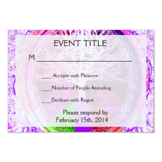 Peace Symbol in Rainbow Colors Card