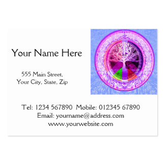 Peace Symbol in Rainbow Colors Large Business Card