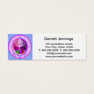 Peace Symbol in Rainbow Colors Mini Business Card