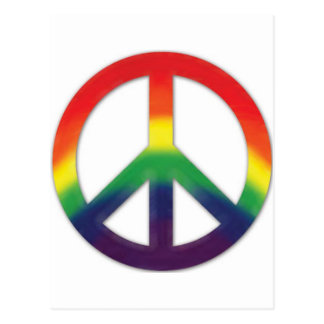 Peace symbol in Rainbow colors Postcard